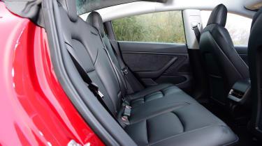 Tesla Model 3 saloon rear seats