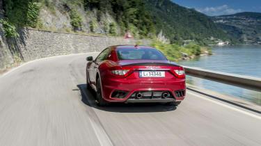 Maserati GranTurismo coupe rear tracking