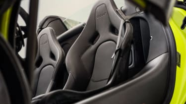 McLaren 600LT Spider convertible front seats
