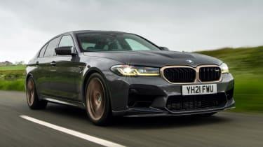 BMW M5 CS front 3/4 tracking