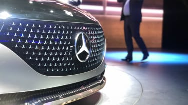 Mercedes EQS electric saloon concept - grille close up - Frankfurt