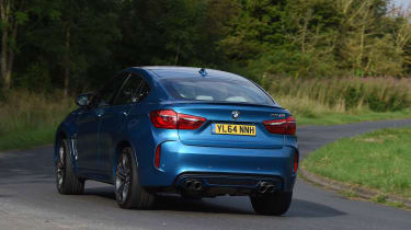 The X6 M shares its engine with the BMW X5 M, but with a coupe-like roofline