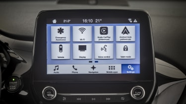 Apple CarPlay, Android Auto and a variety of other connectivity options are featured