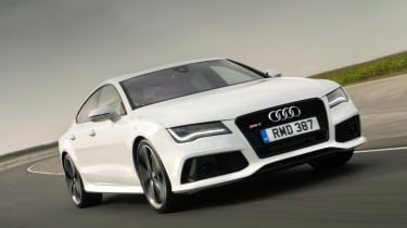 The Audi RS7 Sportback is a large and powerful hatchback aimed at the executive in a hurry