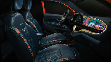 2020 Fiat 500 electric Bvlgari - interior side view