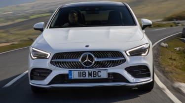Mercedes CLA saloon nose action