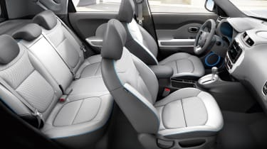 Unlike some electric cars which can only take four people, the Soul EV can accommodate five