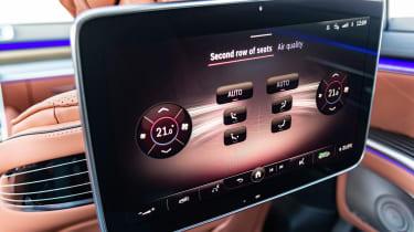 Mercedes S-Class saloon rear seat entertainment