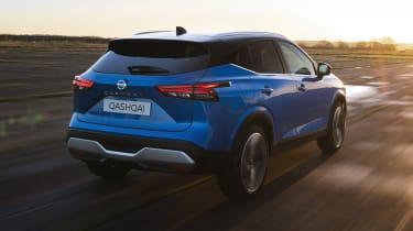 New Nissan Qashqai driving - rear