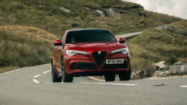 Alfa Romeo Stelvio Quadrifoglio SUV - front view dynamic