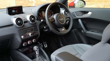 The A1 has the sort of interior usually associated with larger and more expensive cars