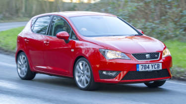 The SEAT Ibiza is another close relation of the VW Polo, but it's the most sporty looking of the three