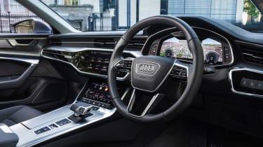 Audi A6 50 TFSI e saloon steering wheel