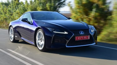 The Lexus LC is the company's flagship coupe and comes as either a powerful hybrid or with a V8 petrol engine.