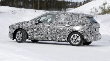 BMW 2 Series Active Tourer in camouflage - side view