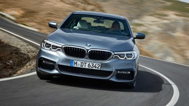 BMW's large saloon can be ordered with a four-wheel steering system for improved cornering
