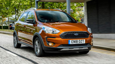 Ford Ka+ hatchback urban front 3/4 tracking