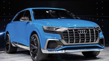 The rakish Q8 will sit at the top of Audi's SUV range