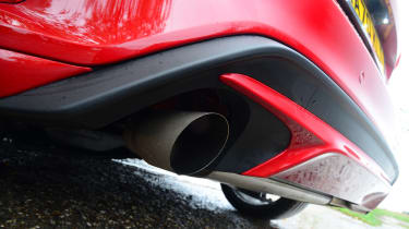 Ford Focus ST hatchback exhaust
