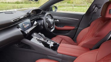 Peugeot 508 SW with red upholstery