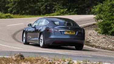 Tesla Model S - rear 3/4 dynamic view