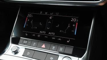 Audi A6 saloon car settings display