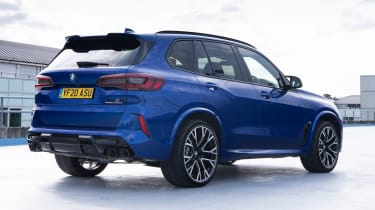 BMW X5 M Competition SUV rear 3/4 static