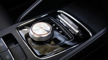 MG ZS EV SUV gear selector