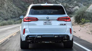 BMW X5 M SUV rear driving