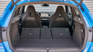 BMW M135i boot - seats down