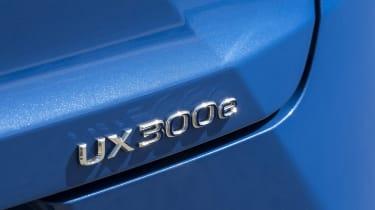 Lexus UX 300e SUV boot badge