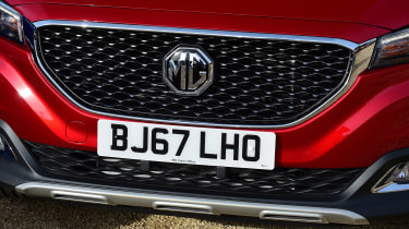 A neat design touch is the large mesh grille and iconic MG roundel