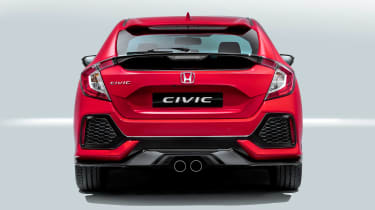 The Honda Civic's sporty styling hints towards a racy Type-R model