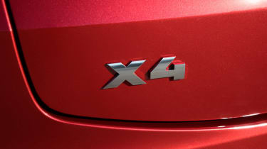 BMW X4 exterior detail shot, X4 badge