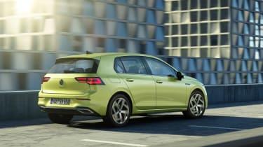 2020 Volkswagen Golf driving - rear view