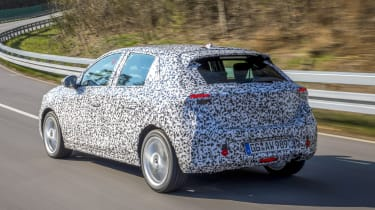 2019 Vauxhall Corsa Prototype rear driving