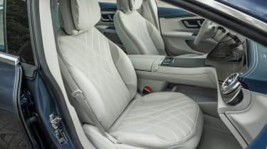 Mercedes EQS hatchback front seats