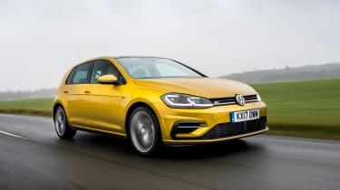 Volkswagen Golf hatchback front 3/4 tracking