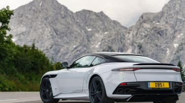 Aston Martin DBS Superleggera rear static