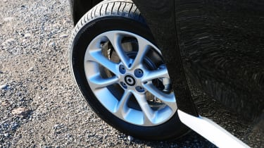 The eight-spoke, 15-inch alloy wheels come as standard on all ForFour entry-level Passion models.