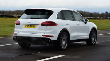 Porsche Cayenne Turbo S E-Hybrid - rear 3/4 view