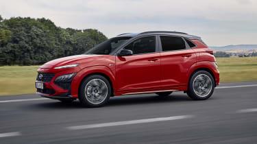 2020 Hyundai Kona N Line - Front 3/4 dynamic