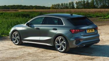 Audi A3 Sportback hatchback rear 3/4 static