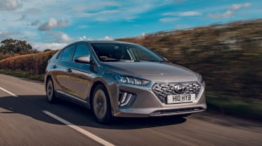 Hyundai Ioniq Hybrid review front tracking