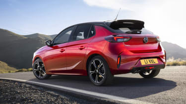 2019 Vauxhall Corsa - rear 3/4 view static