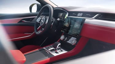 2020 Jaguar F-Pace - dashboard angled view
