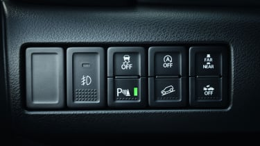 Top-spec versions have a variety of safety aids including a vehicle proximity alert