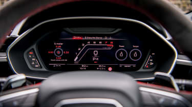 Audi RS Q3 Virtual Cockpit - driving information
