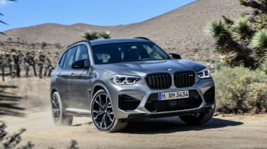 BMW X3 M Competition SUV cornering off-road