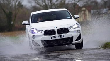 BMW X2 SUV front cornering